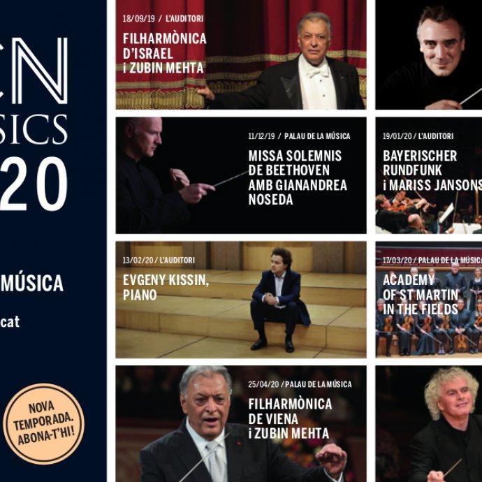 Nueva temporada BCN Clàssics 19/20. La mejor música clásica en Barcelona. Abónate!